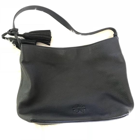 7682cf4788a8 Tory Burch Thea Hobo Black Leather Bag. M 5a8f64db2c705d1b8fdd6c79